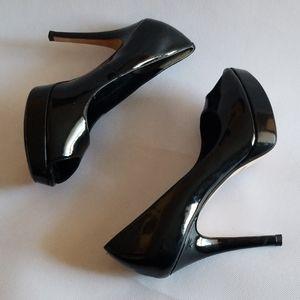 Cole Haan Nike Patent Leather Peep Toe Heels 10B
